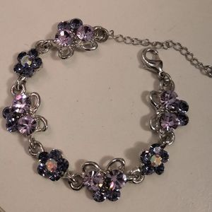 Brand new crystal butterfly bracelet